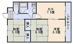 ラフェルメタカキ[3階]の間取り