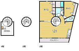 CuRVA[2階]の間取り