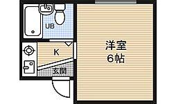 ボンジュール福島[2階]の間取り