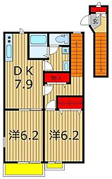 フラワーパレス[2階]の間取り
