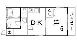 兵庫県神戸市長田区苅藻通7丁目の賃貸アパートの間取り
