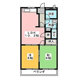 セフティ上坂[1階]の間取り