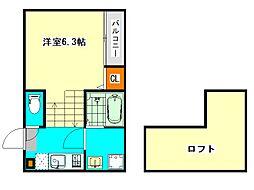 東区矢田1丁目新築デザイナーズ[2階]の間取り
