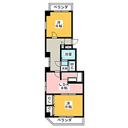 レインボー千代田橋[8階]の間取り