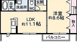 沖洲清流荘1[1階]の間取り