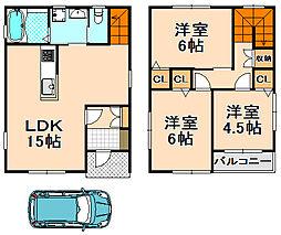 [一戸建] 兵庫県伊丹市鋳物師1丁目 の賃貸【/】の間取り