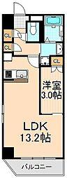 フェルクルールプレスト上野根岸[902号室]の間取り