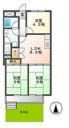 愛知県名古屋市中区正木2丁目の賃貸マンションの間取り