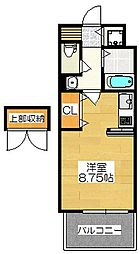エンクレスト大博通り[7階]の間取り