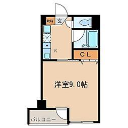 エトワール竹の塚[205号室]の間取り