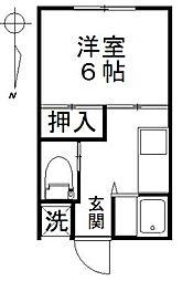 工藤荘[104号室]の間取り
