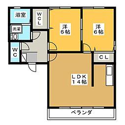 CREA OHIWA[2階]の間取り
