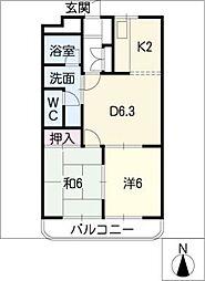 クロスロード29[1階]の間取り