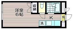 東京都調布市西つつじケ丘1の賃貸アパートの間取り