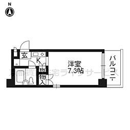 デ・リード京都東洞院[10階]の間取り