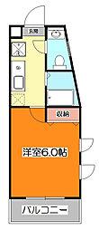 東京都東久留米市新川町1丁目の賃貸マンションの間取り