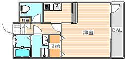 ピュアドームグランテージ博多[13階]の間取り