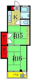 安蒜 第二ビル[4階]の間取り