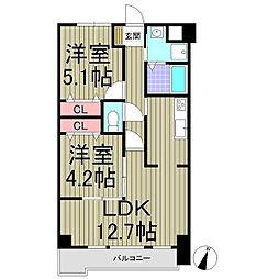 神奈川県鎌倉市長谷2丁目の賃貸マンションの間取り