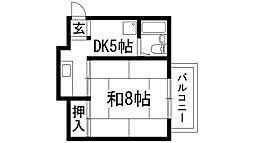 メゾンブランシュ花屋敷[2階]の間取り