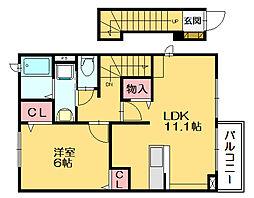 ミニヨンK・S[2階]の間取り