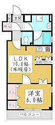 クールコクテル 5階1LDKの間取り