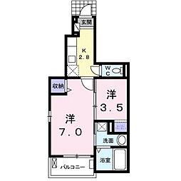 S・K Pal II[1階]の間取り