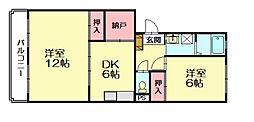 レジデンス牛房[2階]の間取り