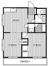 アメニティ富士[3階]の間取り