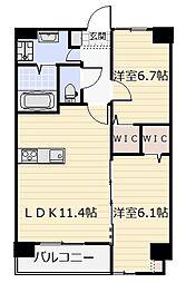 ネクステージ三萩野[905号室]の間取り