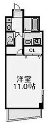 サンシャイン西梅田[6階]の間取り