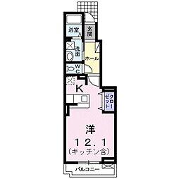 東京都練馬区向山4丁目の賃貸アパートの間取り