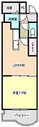三重県四日市市清水町の賃貸アパートの間取り