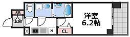 エスリード大阪CENTRAL AVENUE 12階1Kの間取り