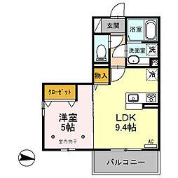 (仮)D-room内ケ島町[207号室]の間取り