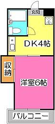 埼玉県狭山市入間川3の賃貸アパートの間取り