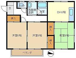 今西ハウス 201[2階]の間取り