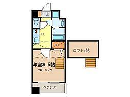 愛知県常滑市千代ケ丘1丁目の賃貸マンションの間取り