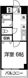 東京都八王子市上柚木の賃貸マンションの間取り