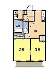 神奈川県大和市中央林間西5丁目の賃貸アパートの間取り