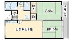 佐野湊団地1号棟[1103号室]の間取り
