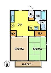 埼玉県さいたま市桜区西堀10丁目の賃貸アパートの間取り