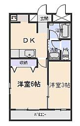 シルクマンション[3階]の間取り