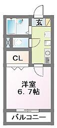 ロングインB[2階]の間取り