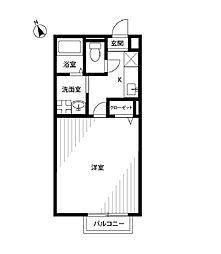 東京都調布市深大寺南町2丁目の賃貸アパートの間取り