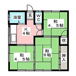 小川アパート[1階]の間取り