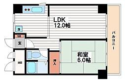第1森之宮中央ハイツ[3階]の間取り