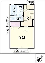 セイントワイズII[2階]の間取り