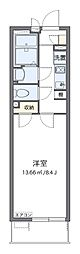 JR東海道・山陽本線 岸辺駅 徒歩15分の賃貸マンション 1階1Kの間取り