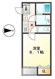 愛知県名古屋市南区星崎2丁目の賃貸アパートの間取り